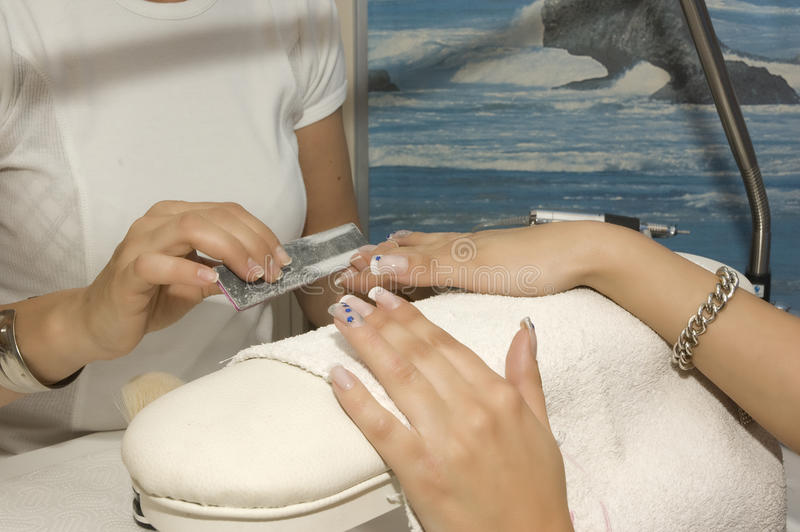 manicure arkivfoto