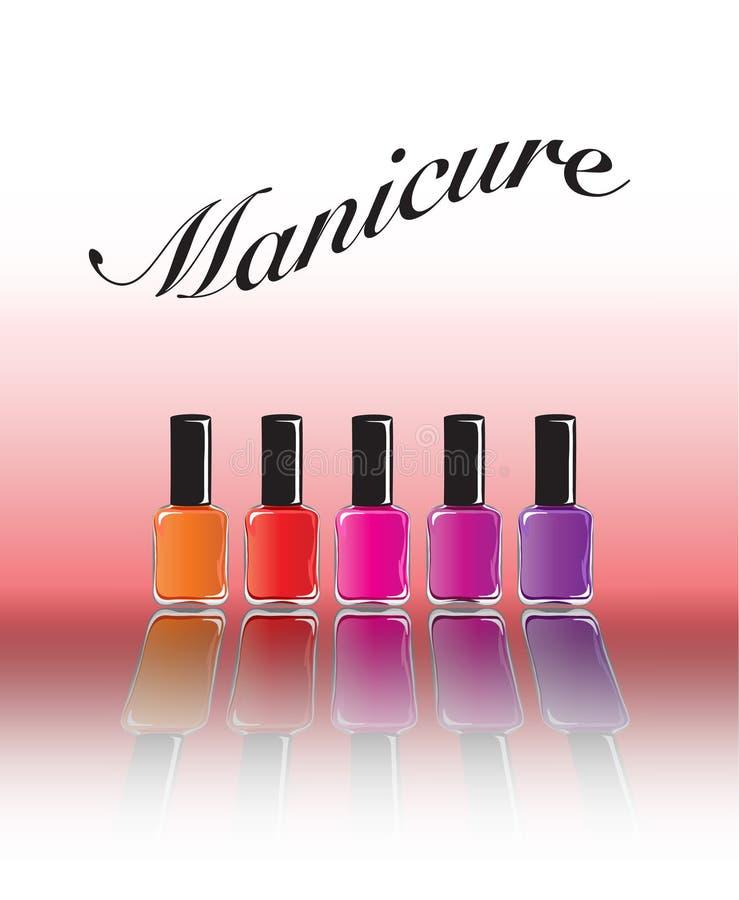 Manicure vector illustratie