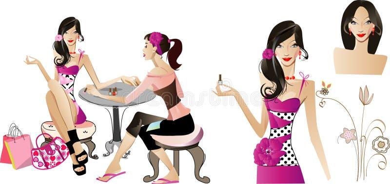 Manicure ilustração stock