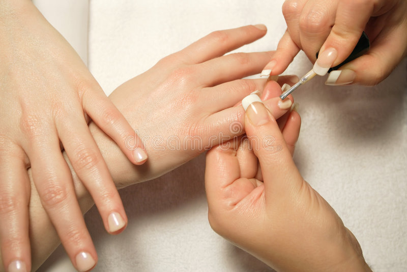 manicure 4 arkivfoton