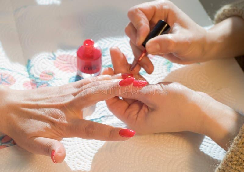 manicure zdjęcie stock