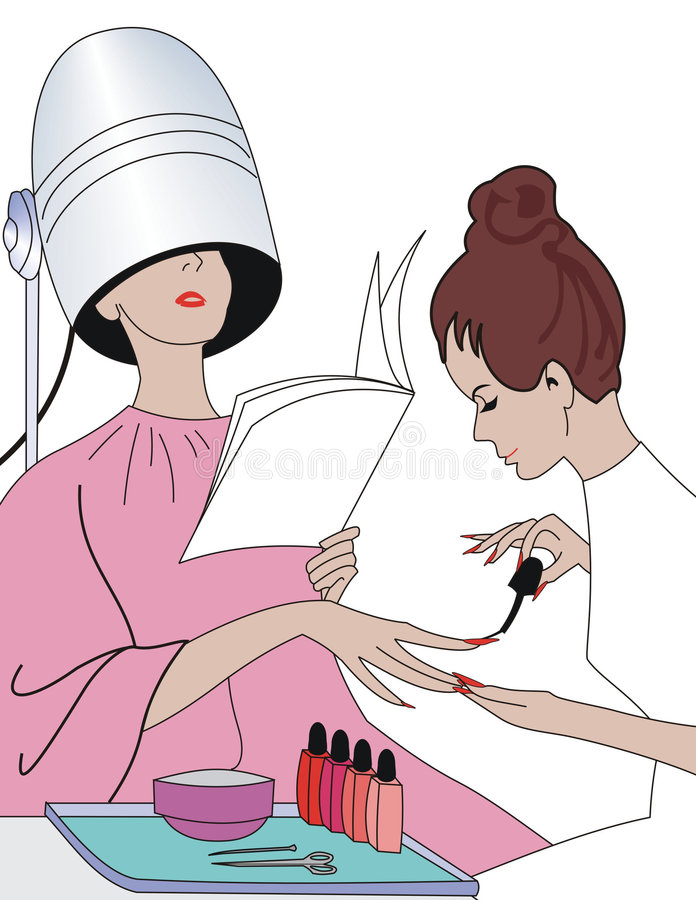 Manicure royalty free illustration