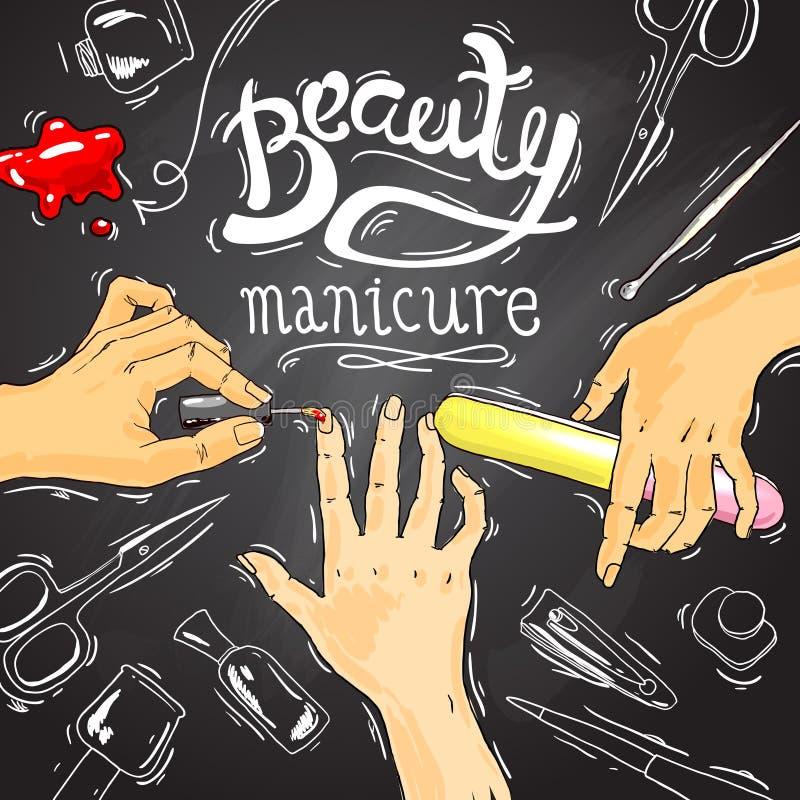manicure royalty-vrije illustratie
