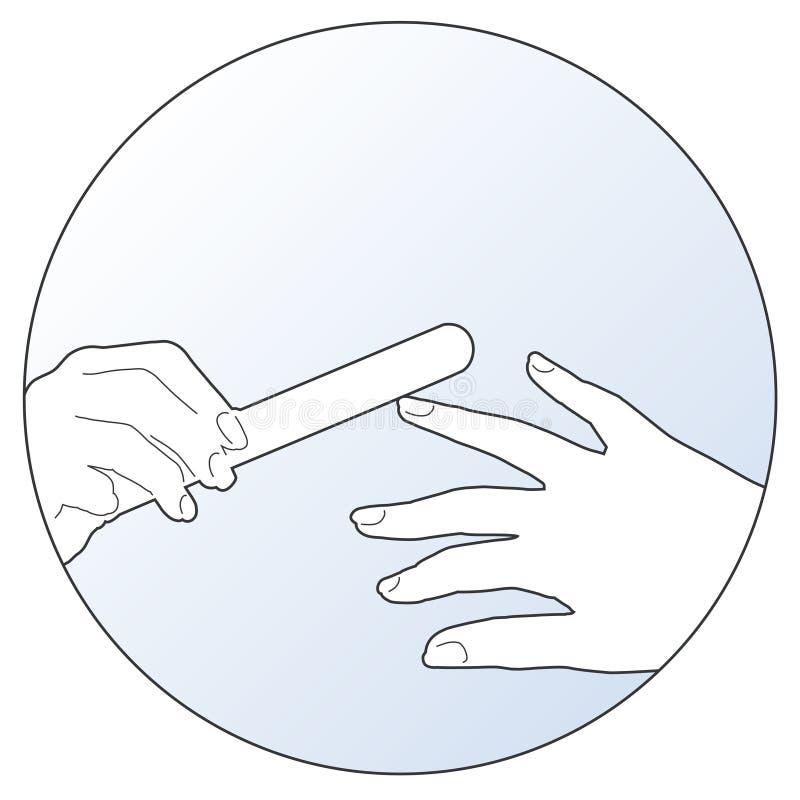 manicure иллюстрация штока