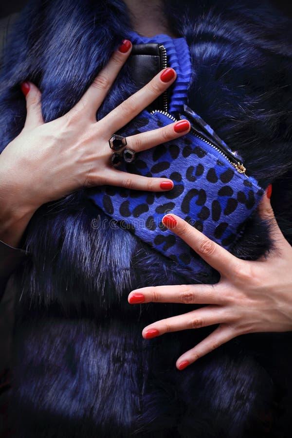 manicure Manicure alla moda elegante immagini stock libere da diritti