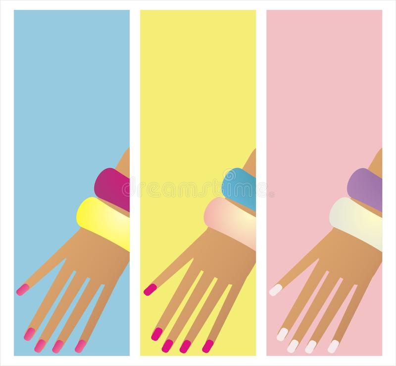 Manicure Banner Stock Photo