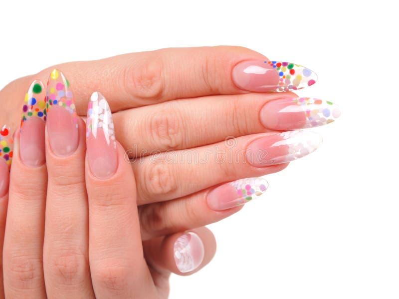 Manicure da mulher imagem de stock