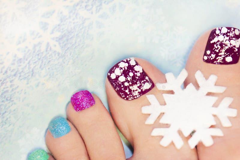 Manicure di inverno fotografia stock libera da diritti