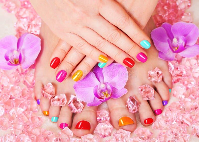 Manicure e pedicure immagine stock