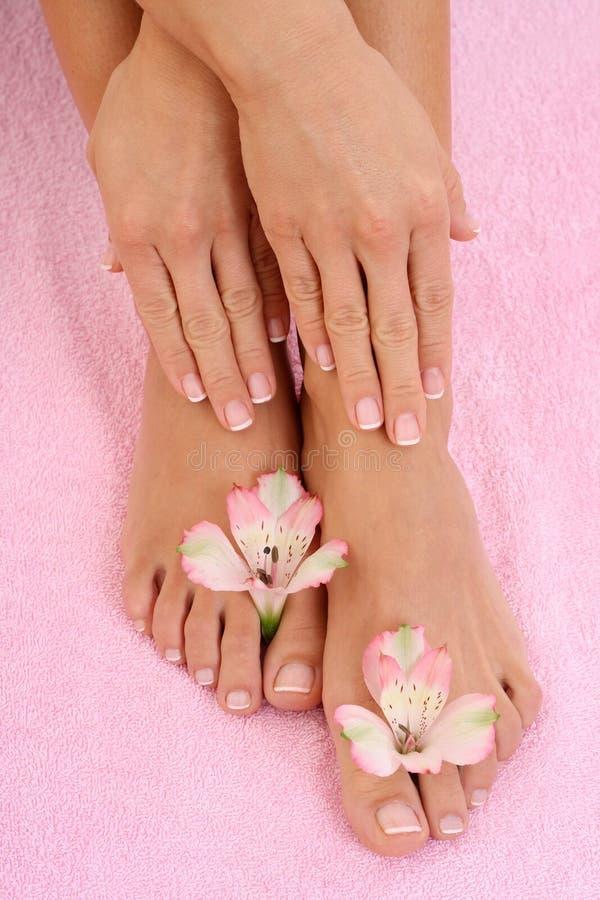 Manicure e pedicure foto de stock