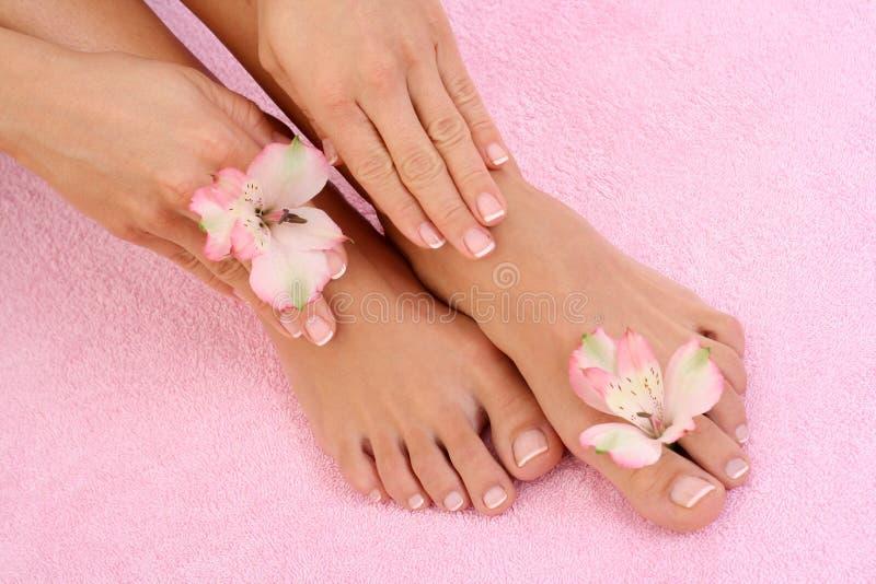 Manicure e pedicure imagens de stock royalty free