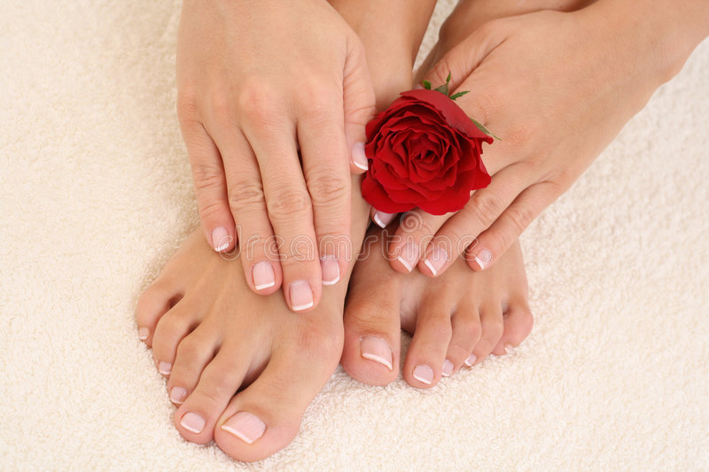 Manicure e pedicure imagem de stock royalty free