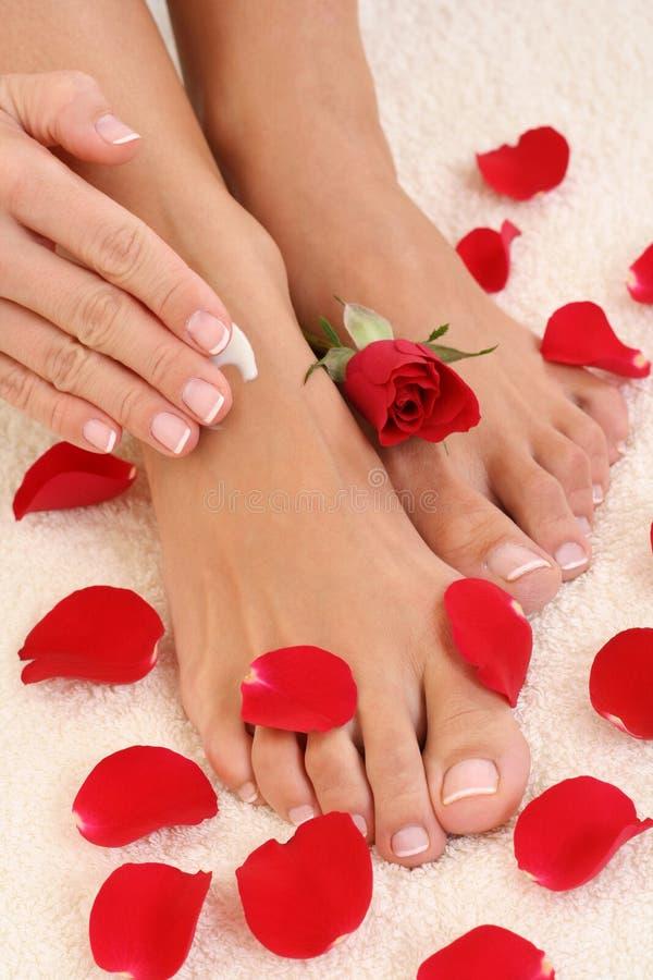 Manicure e pedicure imagem de stock