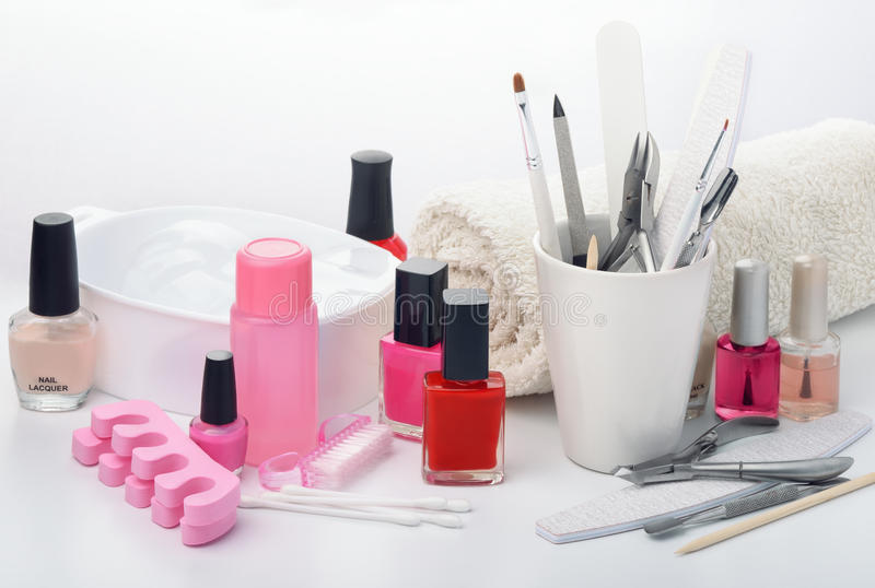 Manicure equipment royalty free stock photography