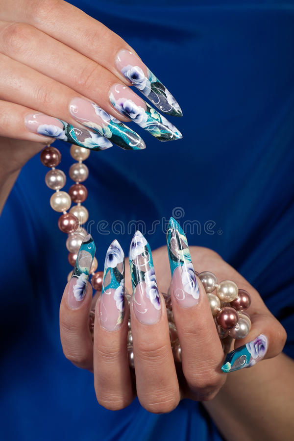 Manicure. Female hands closeup royalty free stock photo