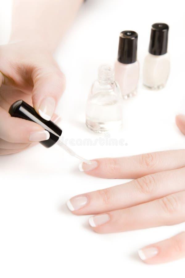 Manicure francês foto de stock