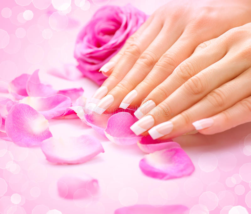 Manicure, Hands spa stock photography