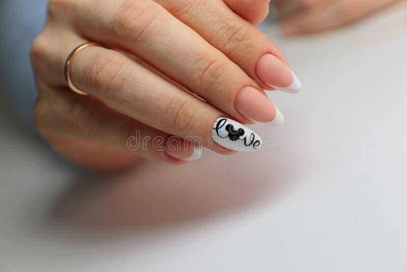 manicure jest piękny, projekt miłości myszka miki obraz stock
