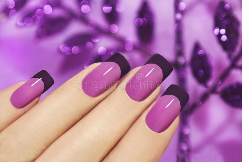 Manicure lilla fotografie stock libere da diritti