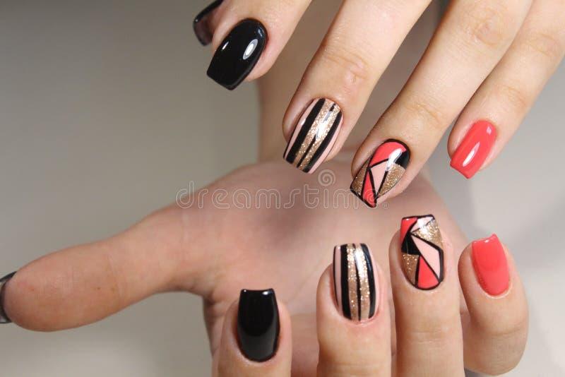 Manicure nail designs 2017 stock photo