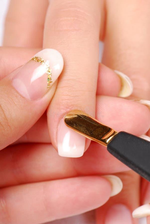 Manicure łopatce Zdjęcia Royalty Free