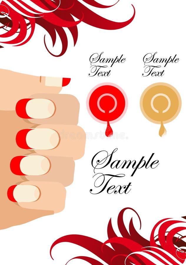 Manicure process illustrations stock illustration