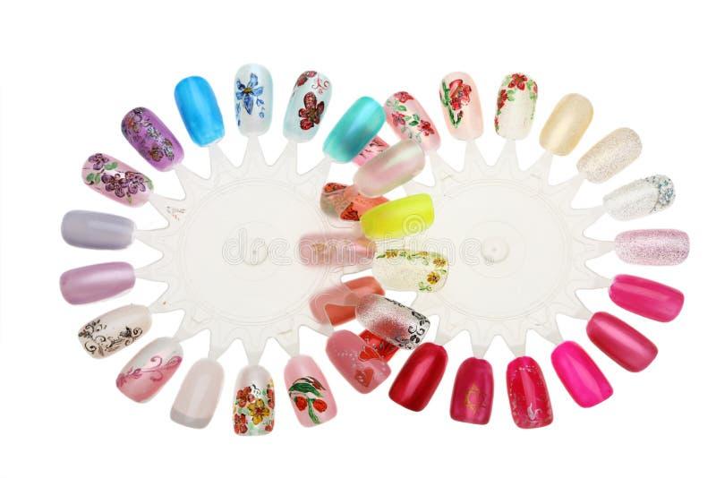 manicure projektu gwóźdź obraz royalty free