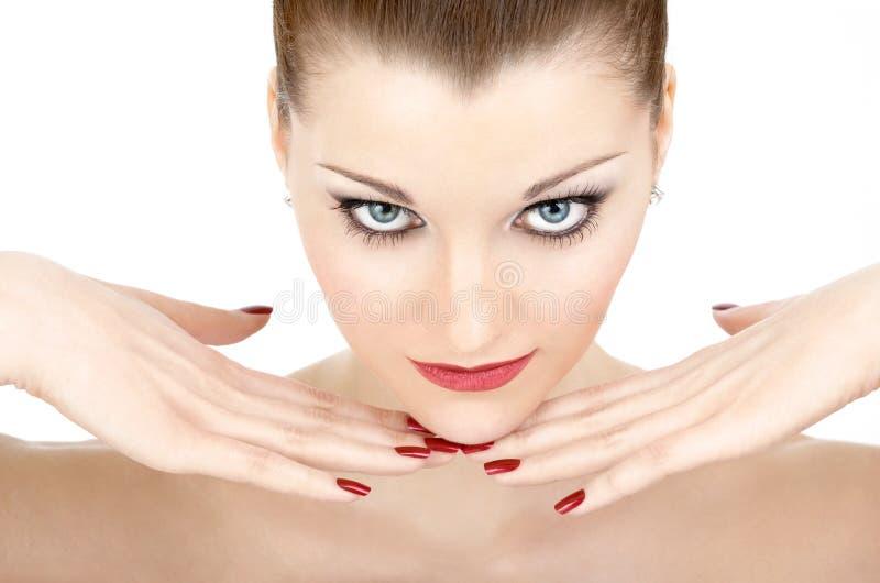 Manicure rosso fotografia stock libera da diritti