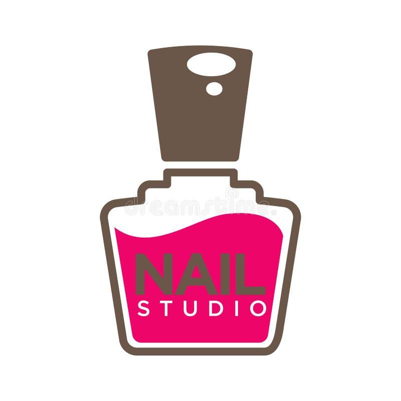 Manicure Salon Or Nails Design Studio Vector Polish Bottle Icon ...