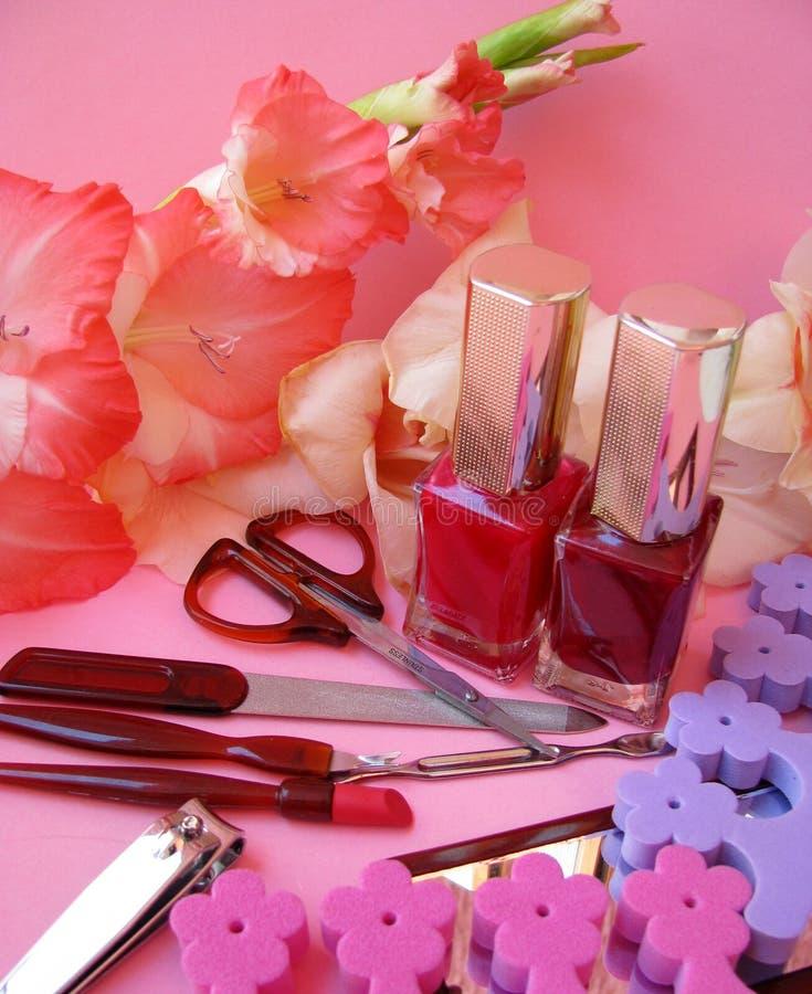 Manicure set royalty free stock photography
