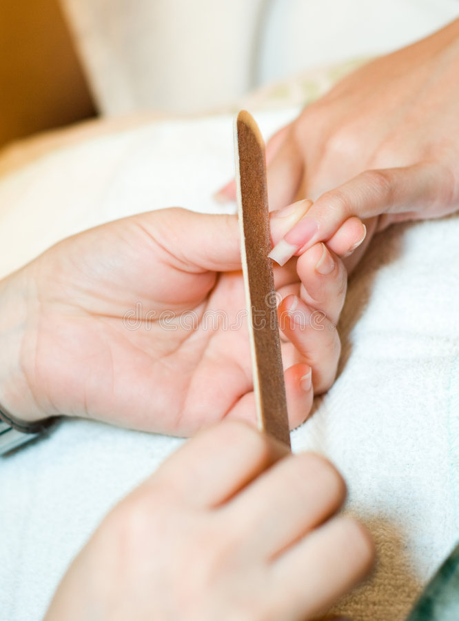 Manicure Spa Treatment royalty free stock photography