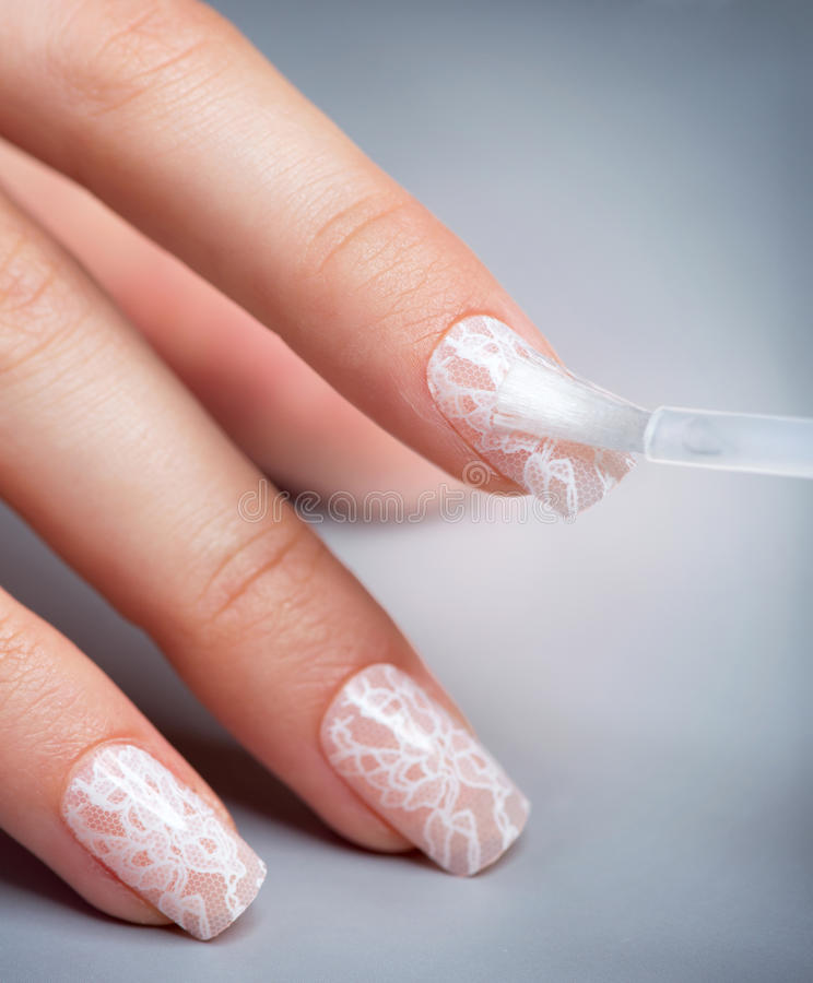 Manicure. Spika polermedel arkivbilder