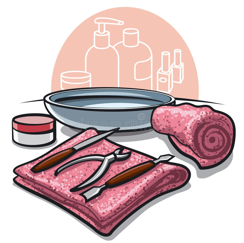 Download Manicure tools stock illustration. Illustration of stainless - 28843923
