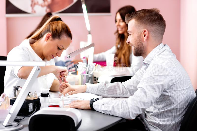 Manicure treatment for sidewall hangnail royalty free stock photos
