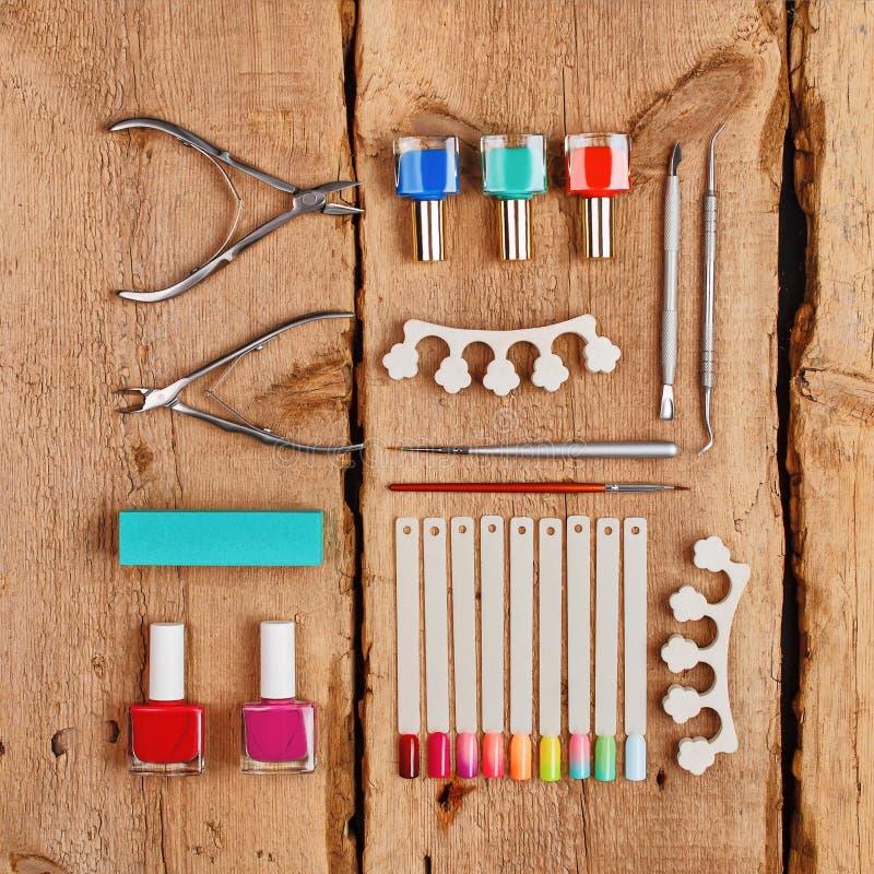 Manicure'u i pedicure'u narzędzia fotografia stock