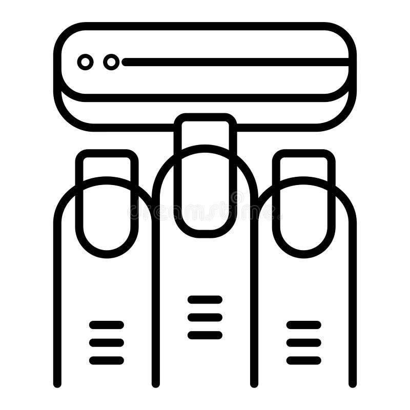 Manicure'u pucharu ikony liniowy wektor ilustracji