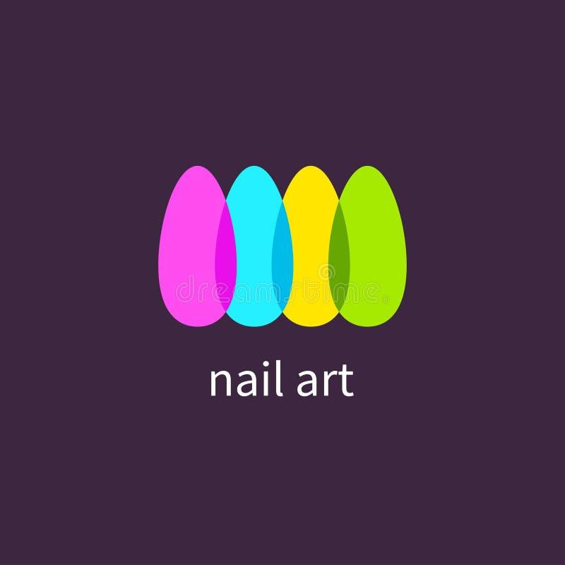 Manicure'u salon, sztuka gwoździe ilustracja wektor
