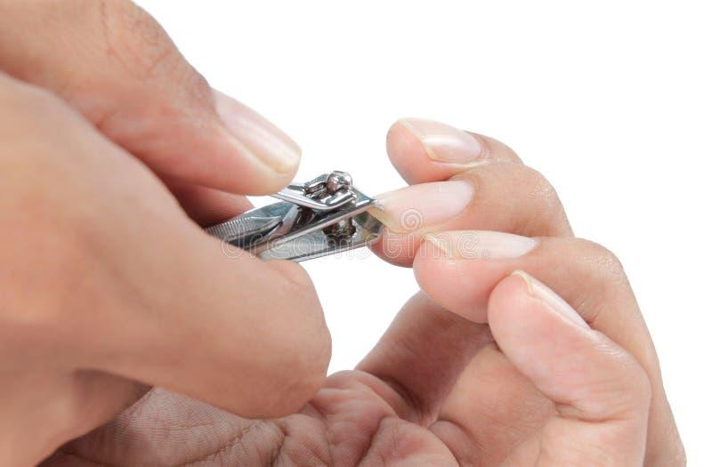 Manicure z gwóźdź klamerką obrazy royalty free