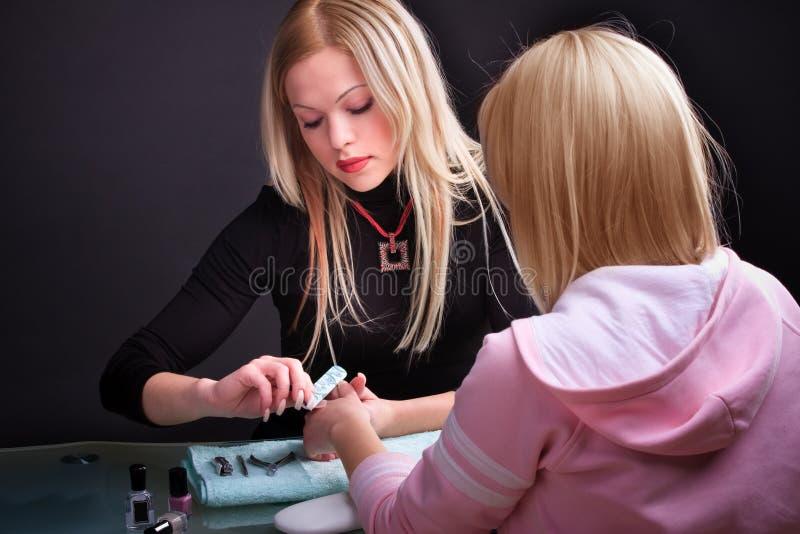 manicurebehandling royaltyfria foton
