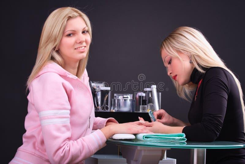 manicurebehandling fotografering för bildbyråer
