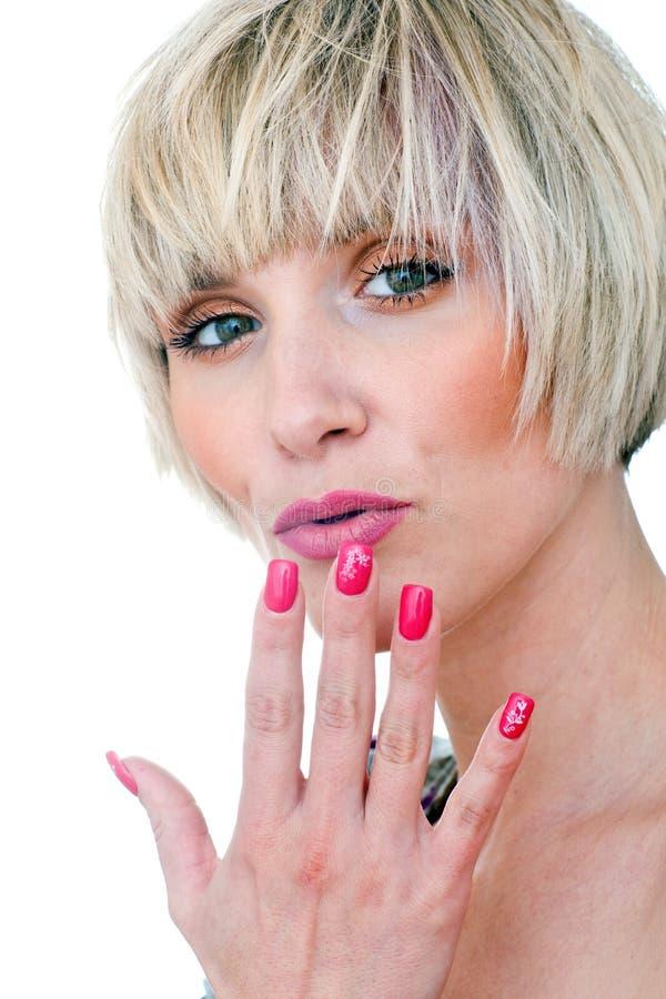 manicured красотка пригвождает женщину портрета стоковое изображение rf