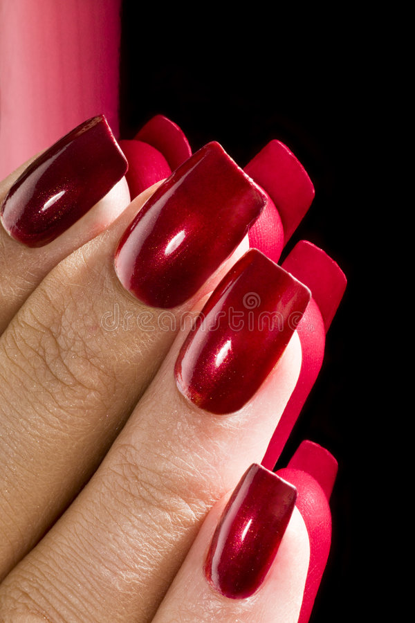 Manicured nails royalty free stock images