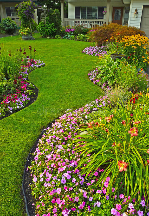 Manicured Yard royalty free stock photography