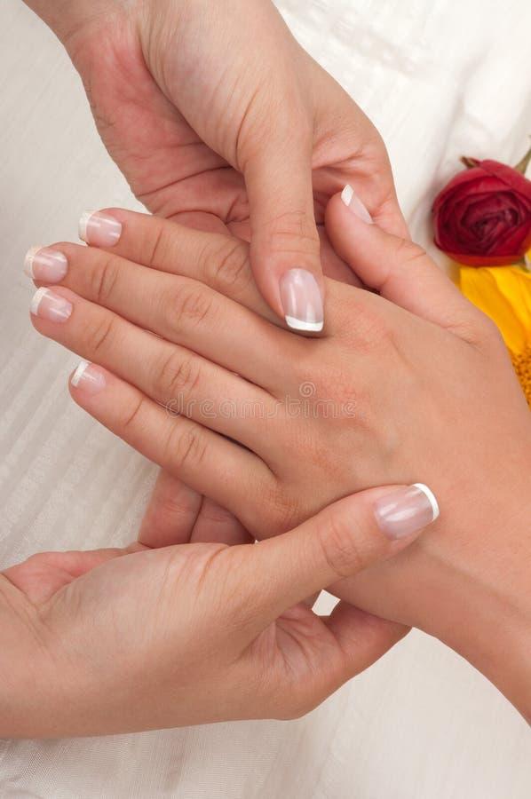 manicuremassage arkivbilder