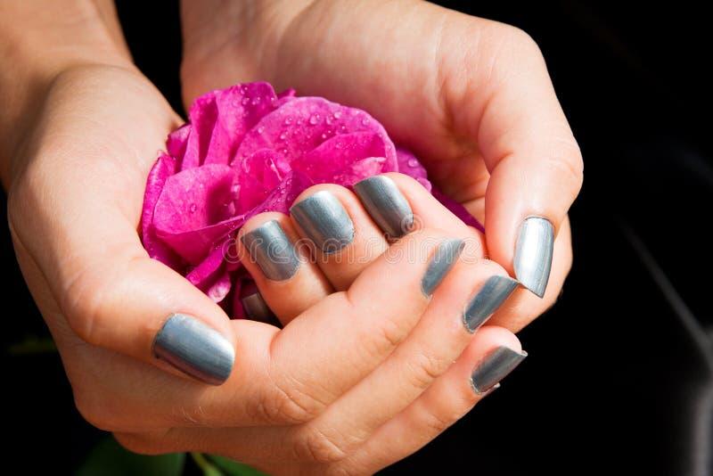 manicuren steg arkivfoton