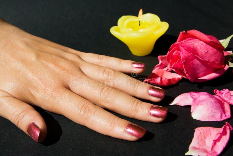 manicuren steg royaltyfri foto