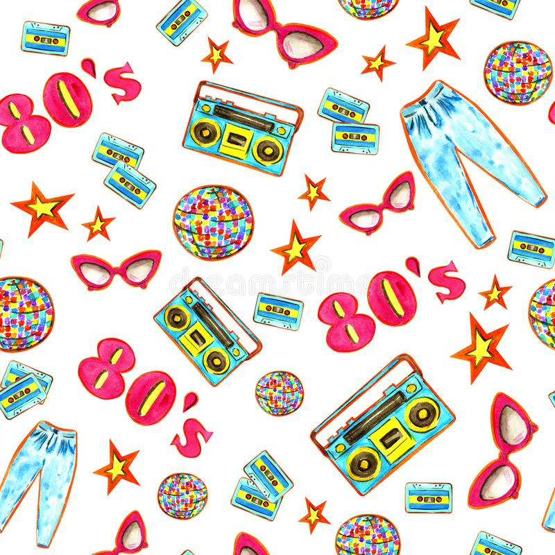 Manier 80 'e-patroon stock illustratie