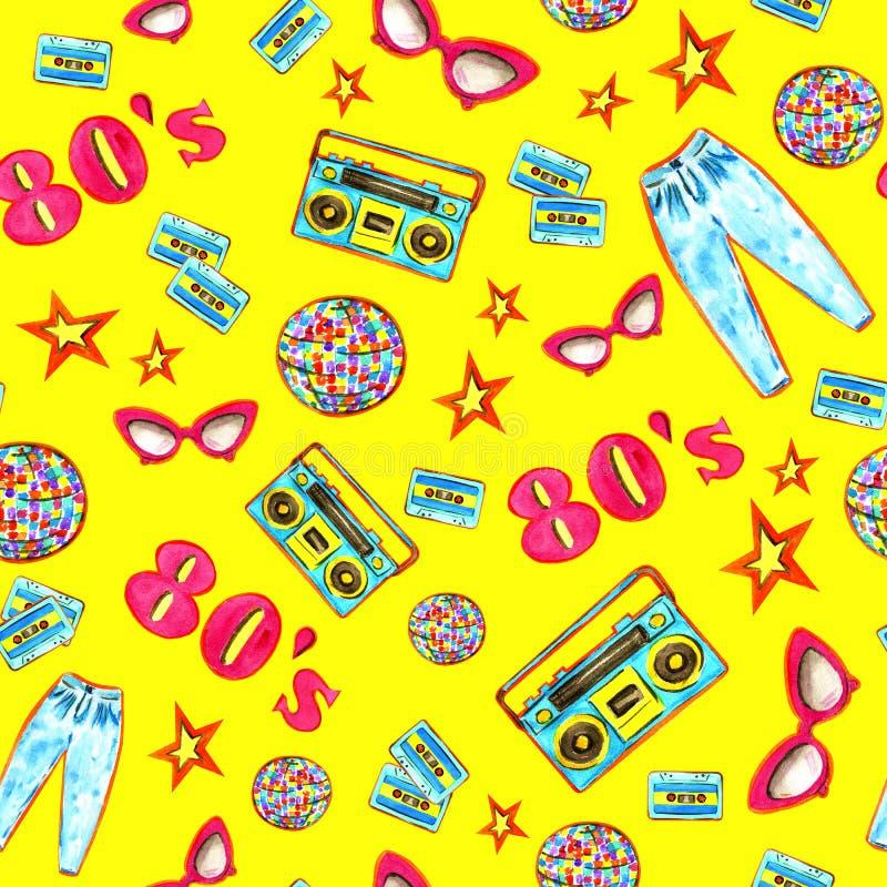 Manier 80 'het kleurrijke naadloze patroon van e royalty-vrije illustratie