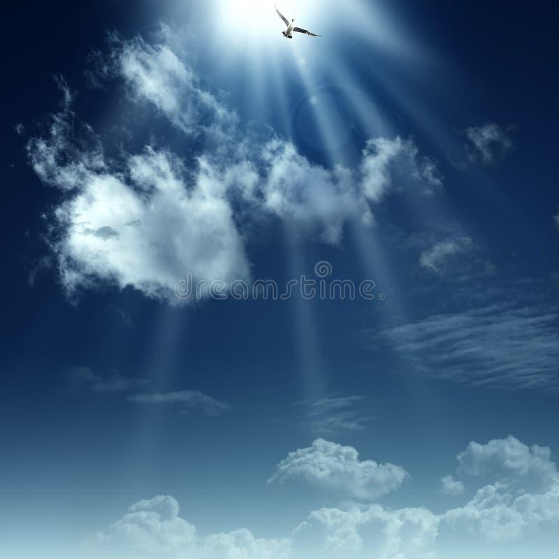 Manier aan hemel. royalty-vrije stock fotografie