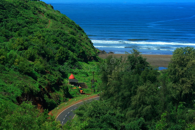 Manier aan Ratnagiri kust-I royalty-vrije stock foto's